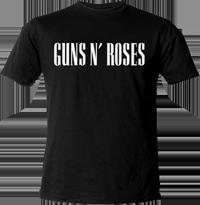 CAMISETA DE CHICA T-GIRL GUNS N ROSES MANGA CORTA