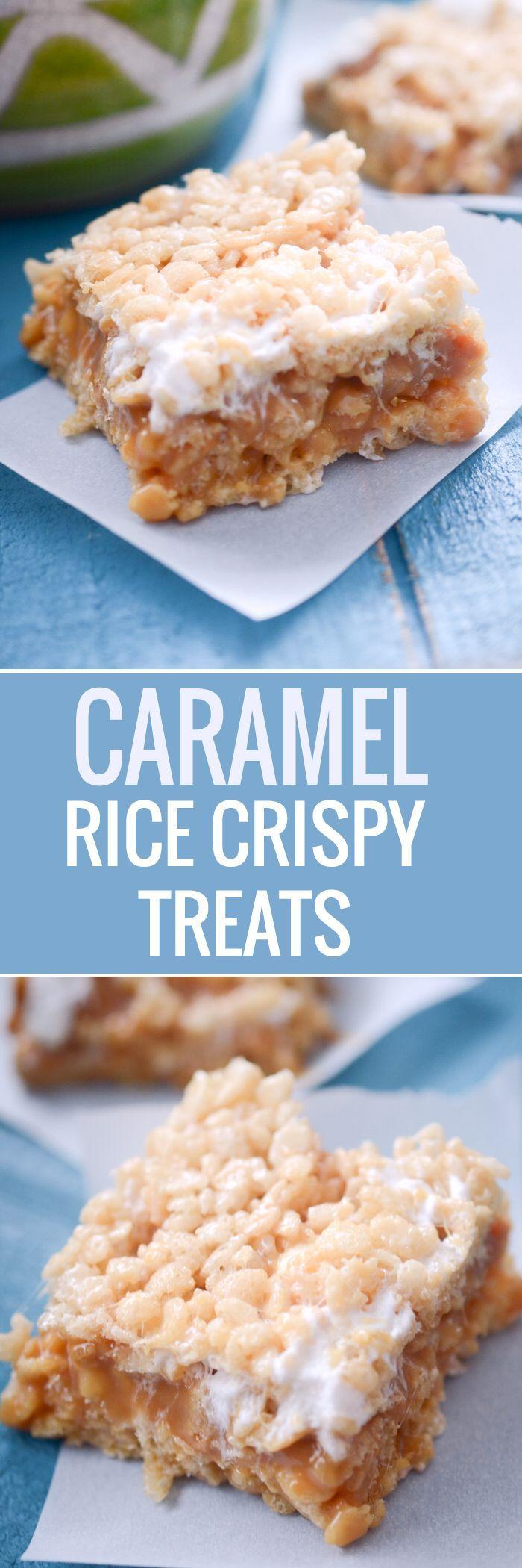 Caramel Rice Crispy Treats and Star Wars #crispytreats