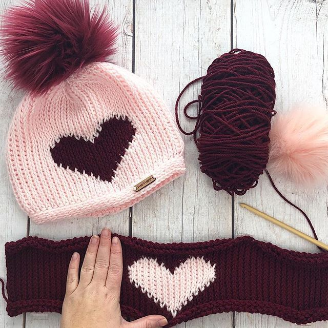 Tunisian Heart Beanie - Free Crochet Pattern - #tunisiancrochet