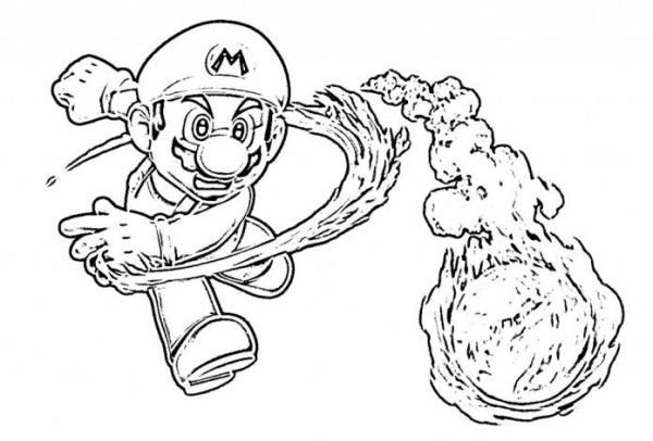 Super Mario Odyssey 2 Coloring Pages Concept