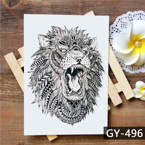 f2b3550161b4c Tattoo lion Waterproof Temporary Tattoo Sticker #Tattoosforwomen ...