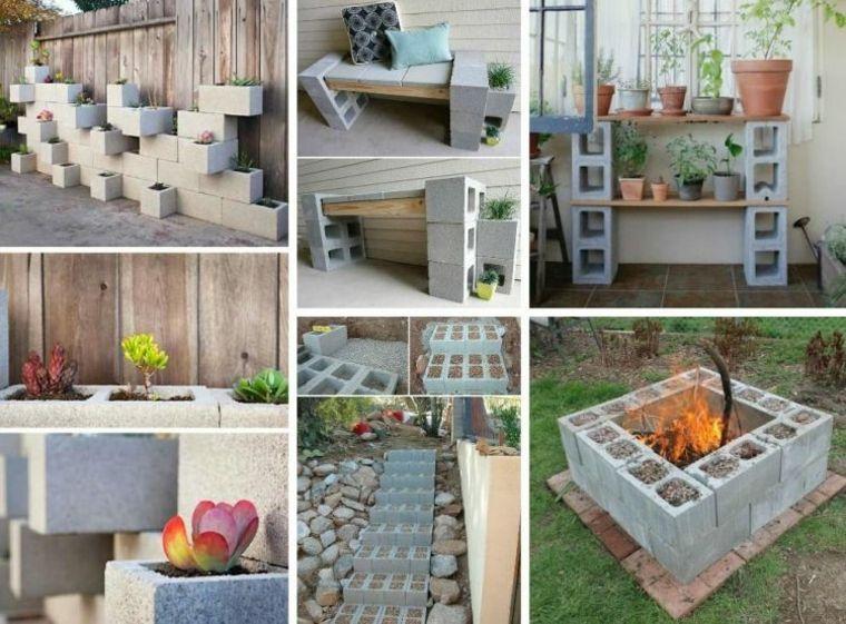 Bloques cemento para jardines fogones pinterest for Bloques de cemento para pisos de jardin