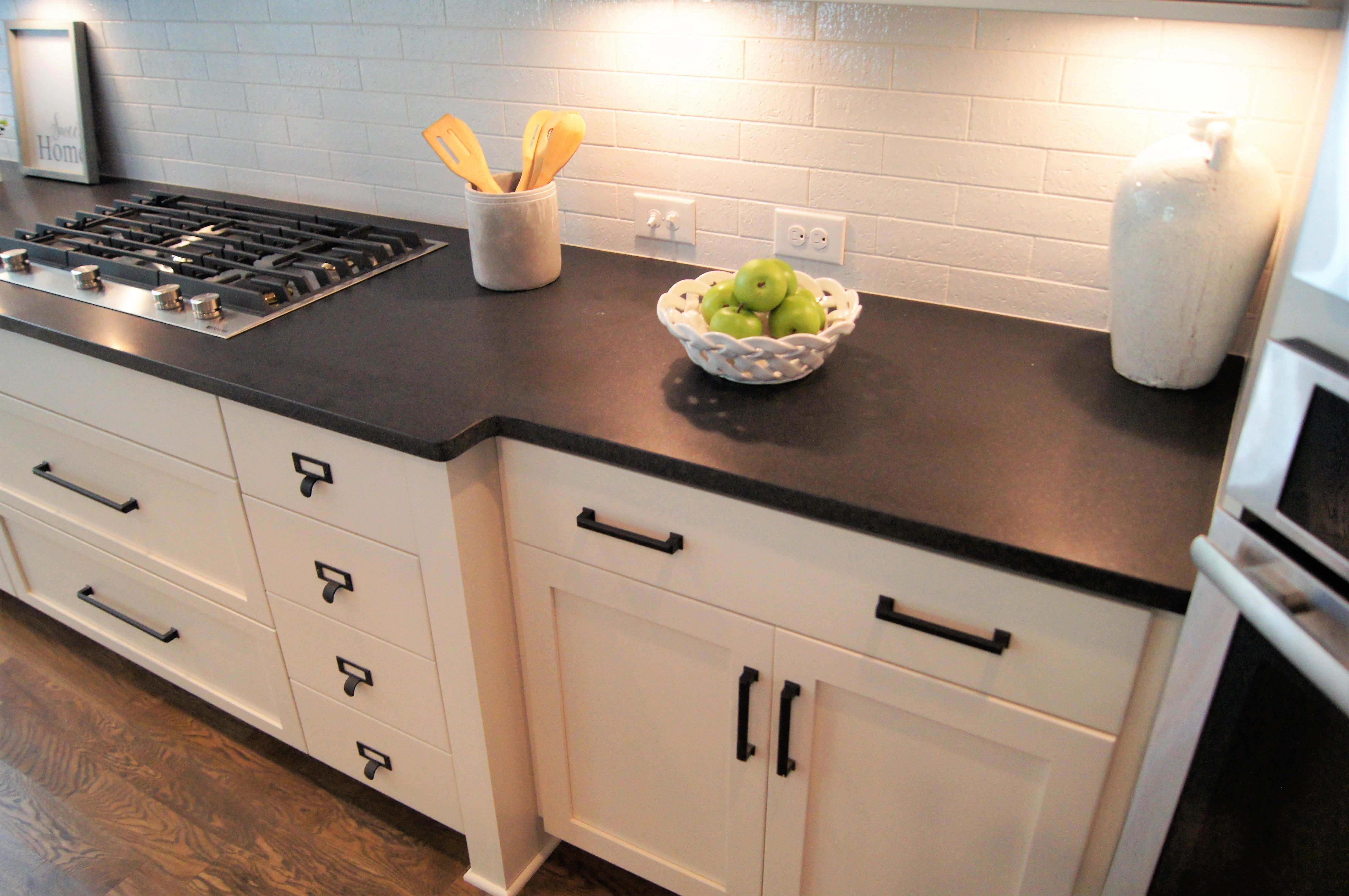 Honed Absolute Black granite white and bright