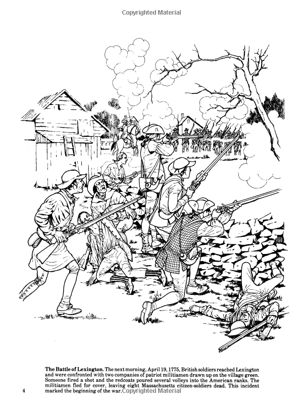revolutionary war battle coloring pages sketch coloring page - American Revolution Coloring Pages