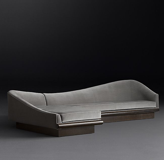 Preconfigured Serpentine Pearsall Left-Arm Sofa Chaise Sectional