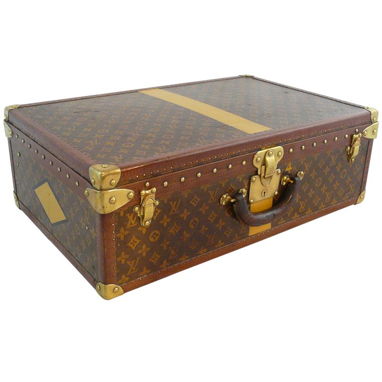 80f83a9f0042 Louis Vuitton Vintage Hardside Luggage Suitcase France circa 1930 s Louis  Vuitton vintage hardside luggage suitcase. Louis Vuitton monogrammed and  embossed ...