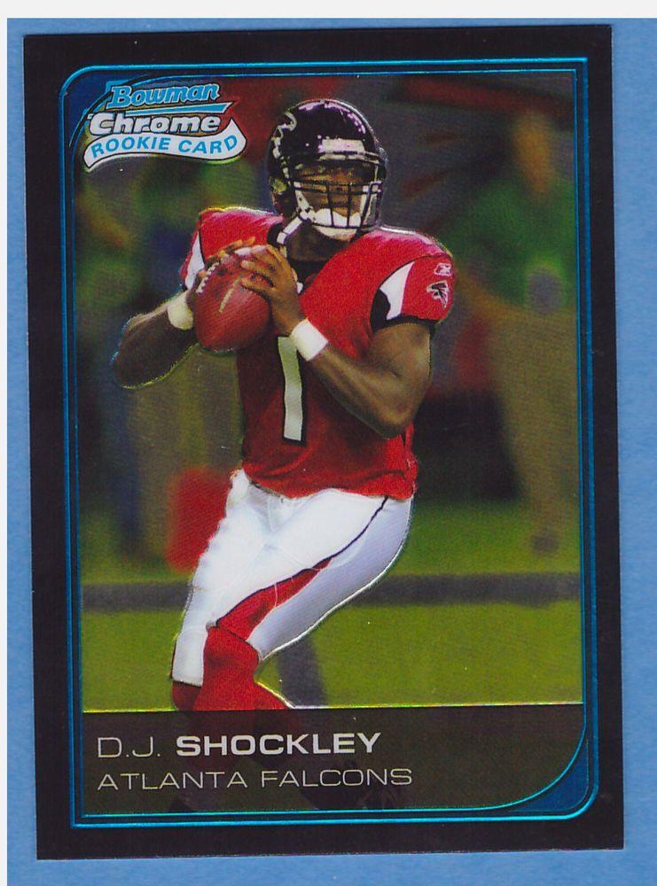 Dj shockley atlanta falcons rookie football card bowman