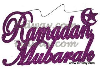 New-Glitter Ramadan Mubarak wood Hanging - Eidway Store