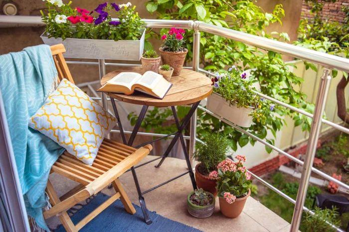 33 Ideen wie Sie den kleinen Balkon gestalten können Pinterest