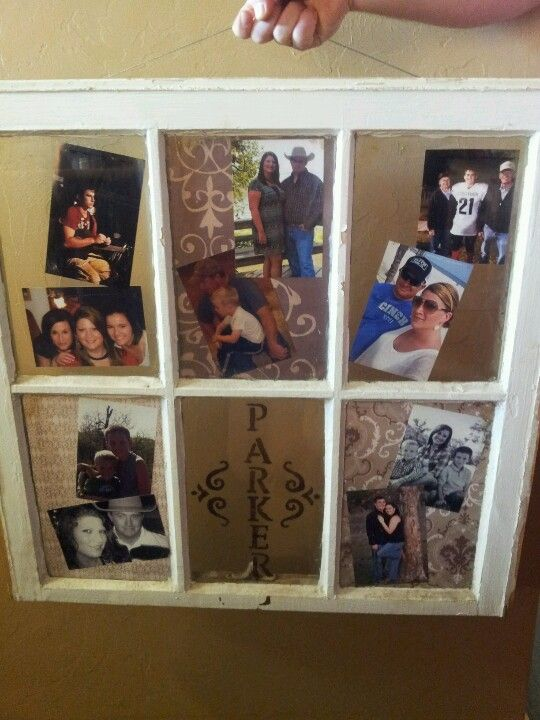 Diy Old Window Collage Picture Frame Used Scrap Book Paper For Background On Three Of Th Picture Collage Wall Diy Collage Picture Frames Collage Picture Frames