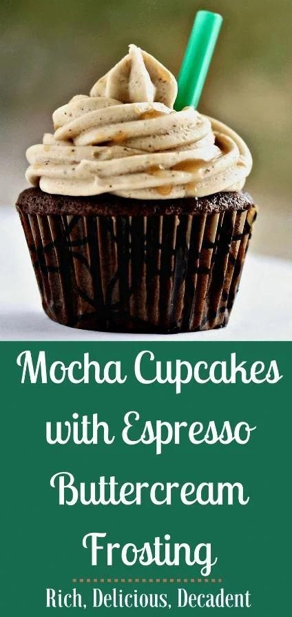 Mocha Cupcakes With Espresso Frosting are The perfect combination of coffee and chocolate, these decadent mocha cupcakes with espresso buttercream frosting are the perfect morning treat, office party offering or after dinner indulgence. With a cup of coffee of course!