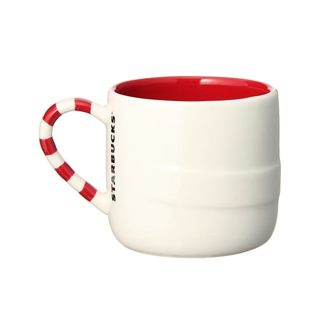 Starbucks Valentines  Red Hearts LOVE coffee mug 2010 Ruby Red New Bone China