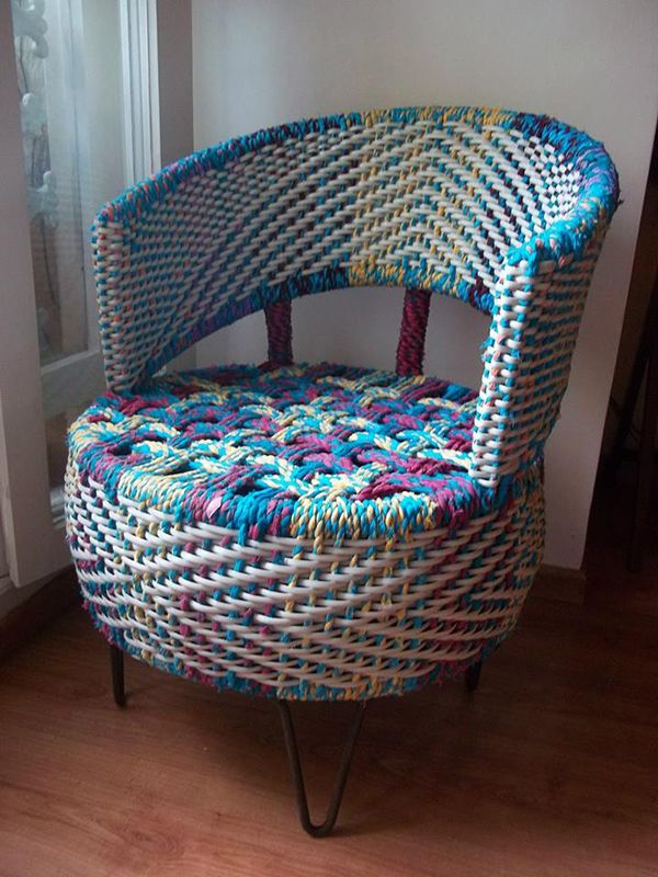 Reusing Car Tyres For Chair Artistic Weaving By Anu