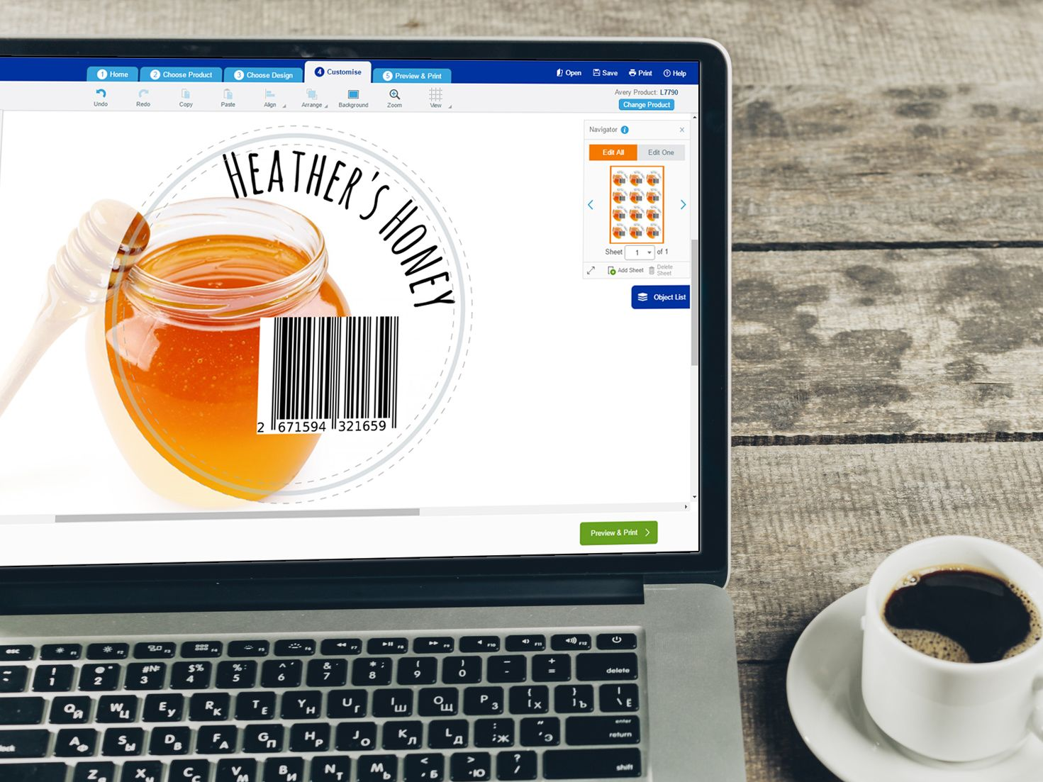Create Barcodes in Avery Design & Print Design & Print is