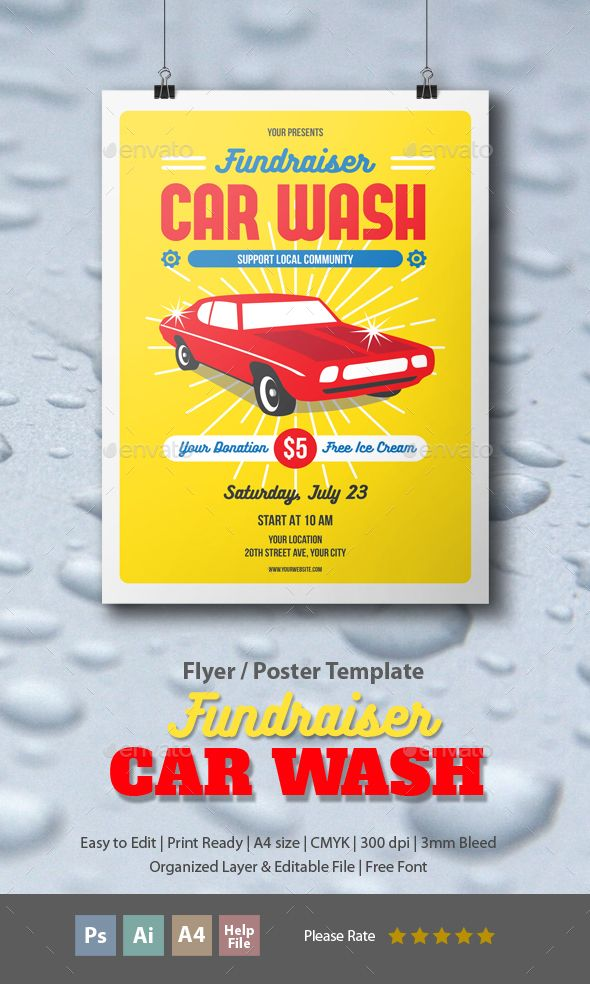 Pin By Bashooka Web Graphic Design On Flyer Template Car Wash