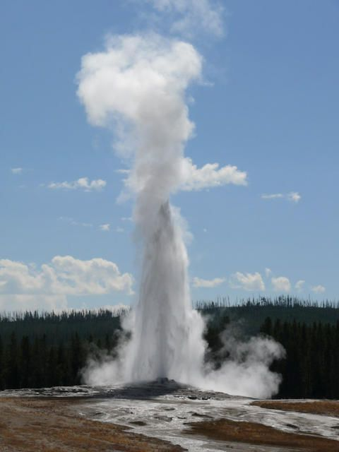 Old Faithful, Yellowstone National Park another family vacation stop...I miss those road trips!