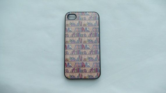 iphone 4 and 4s Case with Bookcase design ideal by OffTheCuff2010, $15.00