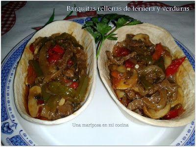 Puntadas deliciosas: Barquitas rellenas de ternera y verduras