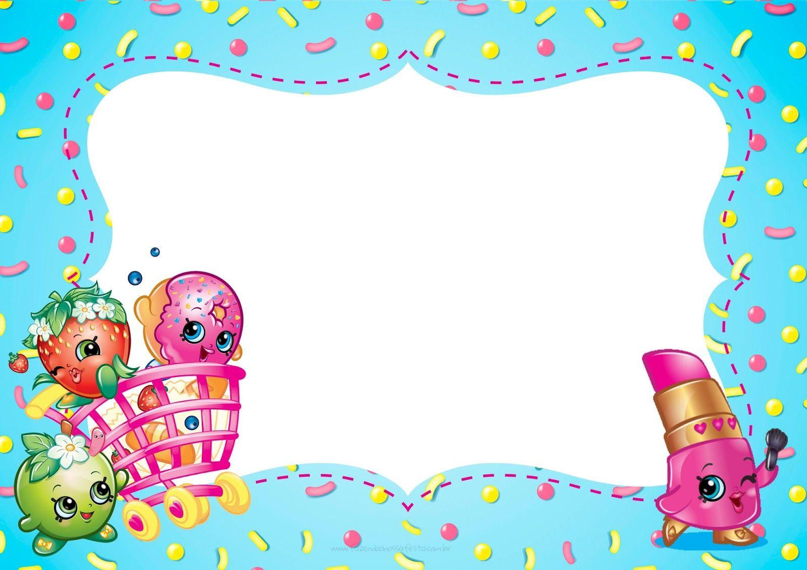 Imagenes Escolares Para Imprimir: Shopkins: Invitaciones Para Imprimir Gratis.