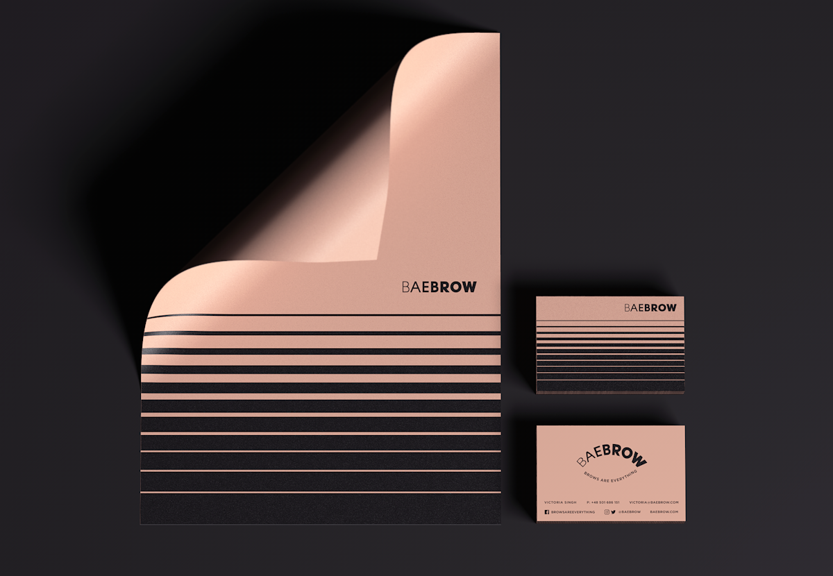 BAEBROW_Identity/Packaging on Behance