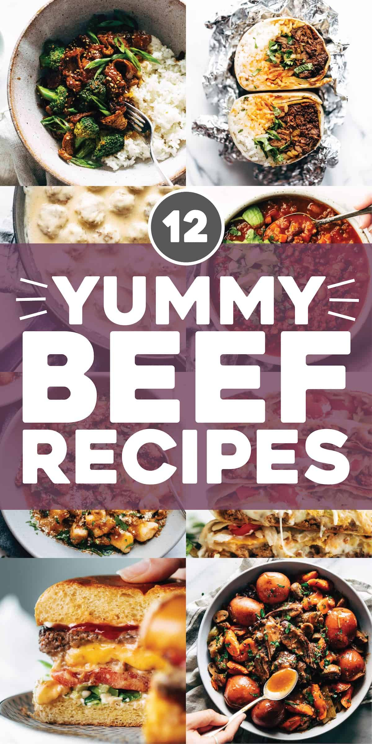 12 Yummy Beef Recipes Pinch Of Yum Beef Recipes Recipes Asian Vegetarian Recipes