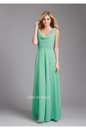 Outstanding Green Scoop Bridesmaid Dress