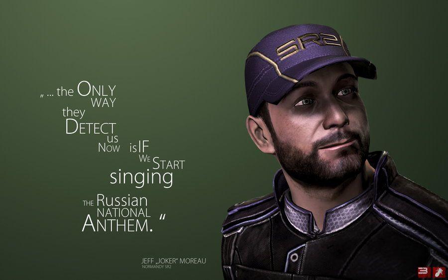 Me3 Wallpaper Joker By Pineappletree D4tckjj Jpg 900 563 Mass Effect Quotes Mass Effect Funny Mass Effect Characters