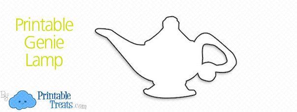 Printable Genie Lamp
