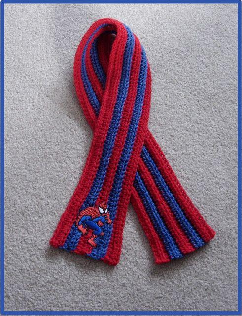 Scarf Positivamente Crochet !: Spiderman do menino Inspirado - Visit ...