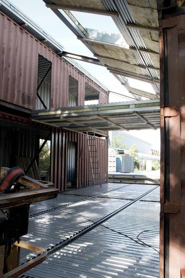 Un architecte installe 3 conteneurs pour créer une maison\u2026 attendez - creer une maison en 3d