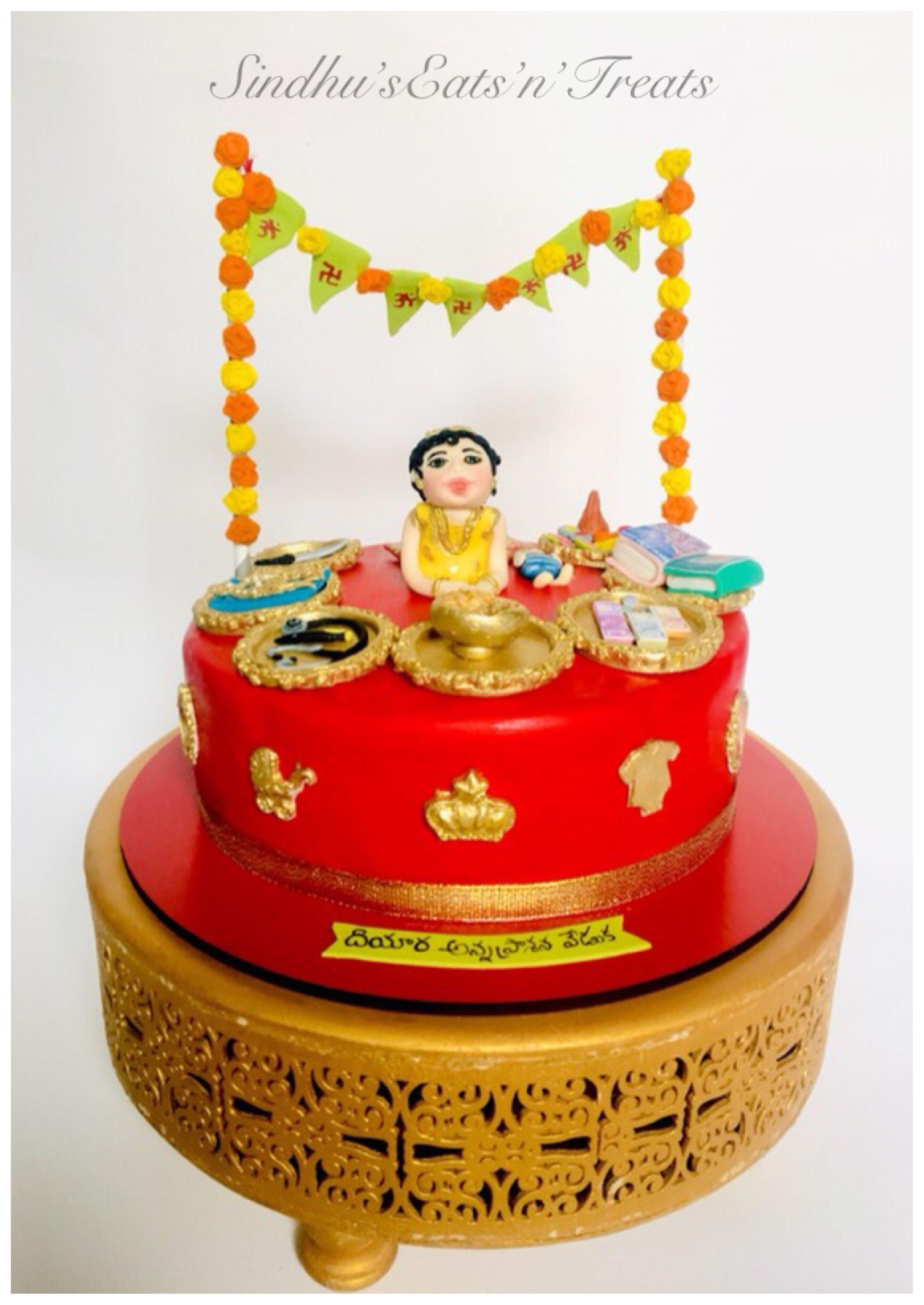 Annaprasana cake Cake, Desserts, Treats