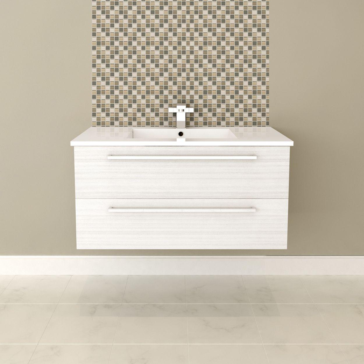 Shop Cutler Kitchen Amp Bath Cutler Silhouette Fv Zamubkka48 48 In X 19 In Single Sink Bathroom Vanity With Cultured Wall Hung Vanity Bathroom Vanity Vanity
