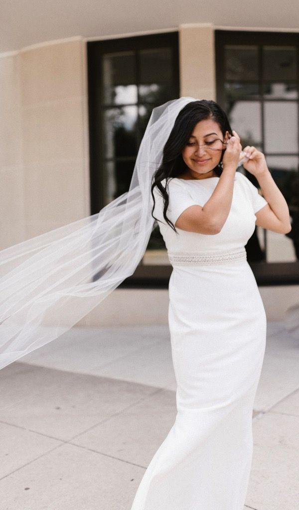 Classic Vintage Inspired Wedding Dress   Simple Sheath Wedding Dress ...