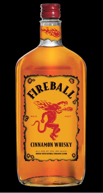 Yowsers Fireball Whiskey Bebidas De Whisky Licor