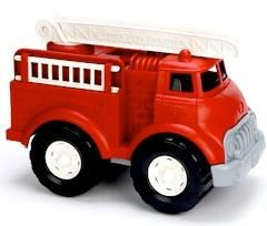 Make way - it's the world's most environmentally friendly emergency vehicle to the rescue! The Green Toys Fire Truck is solidly constructed from 100% recycled plastic milk containers that save energy and reduce greenhouse gas emissions, and has no metal axles. Includes sturdy extendable ladder rotates 360 degrees and two removable side ladders. No BPA, PVC, or phthalates. Packaged using only recycled and recyclable materials.   $41.45