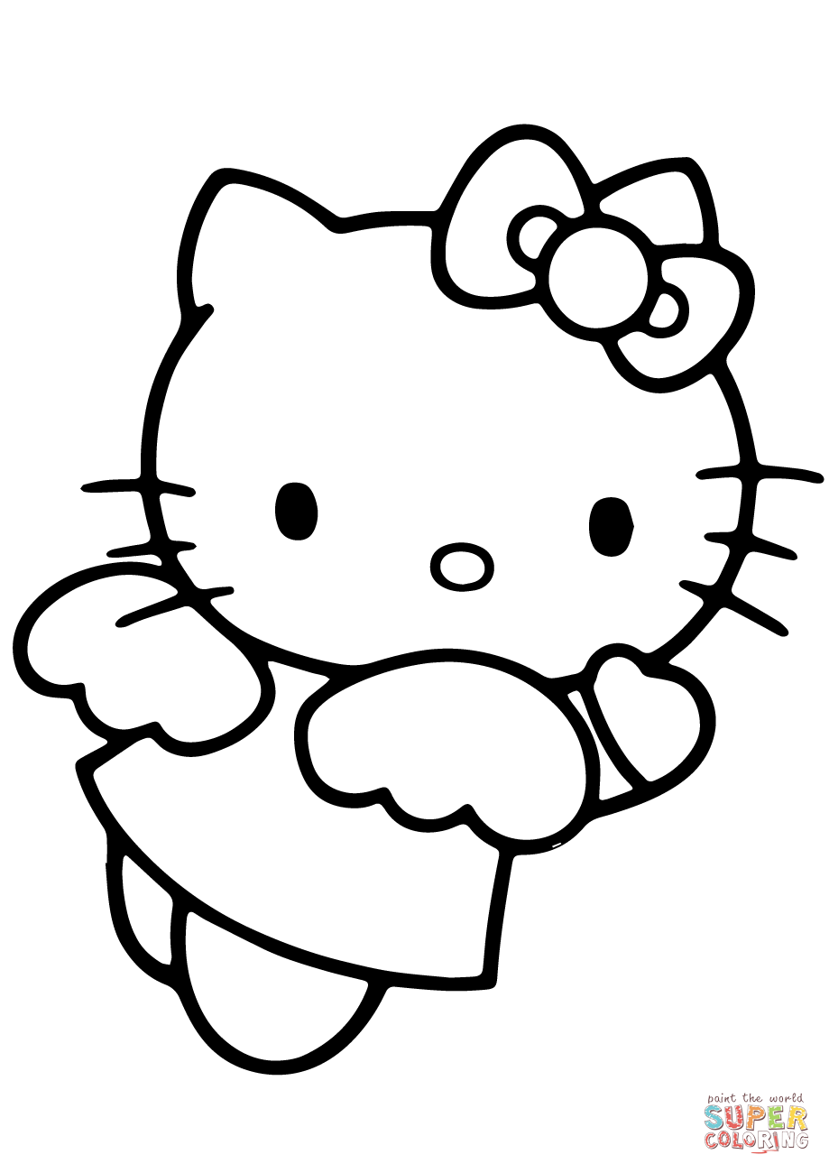 Hello Kitty Angel Coloring Pages Hello Kitty Colouring Pages Hello Kitty Drawing Hello Kitty Printables