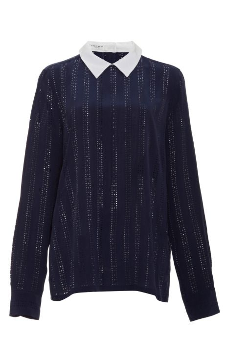 Shop Grace Laser-Cut Washed Silk Shirt by Equipment Now Available on Moda Operandi