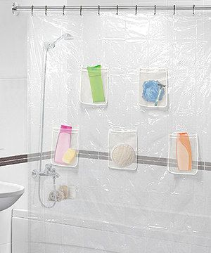 Home Collections Clear Five Pocket Shower Curtain