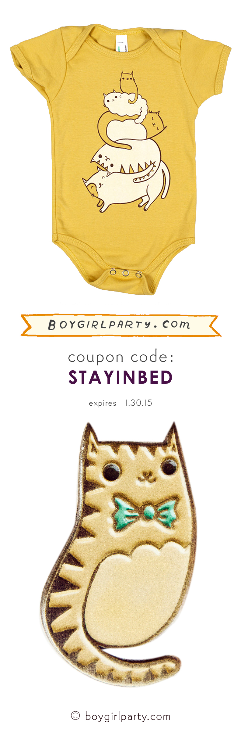 http://shop.boygirlparty.com coupon code STAYINBED #CyberMonday is on! Expiring 11/30/15