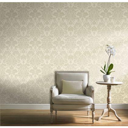 GRAN DECO TEXTURED CREAM WHITE BEIGE FLORAL FLOWER DESIGNER FEATURE WALLPAPER