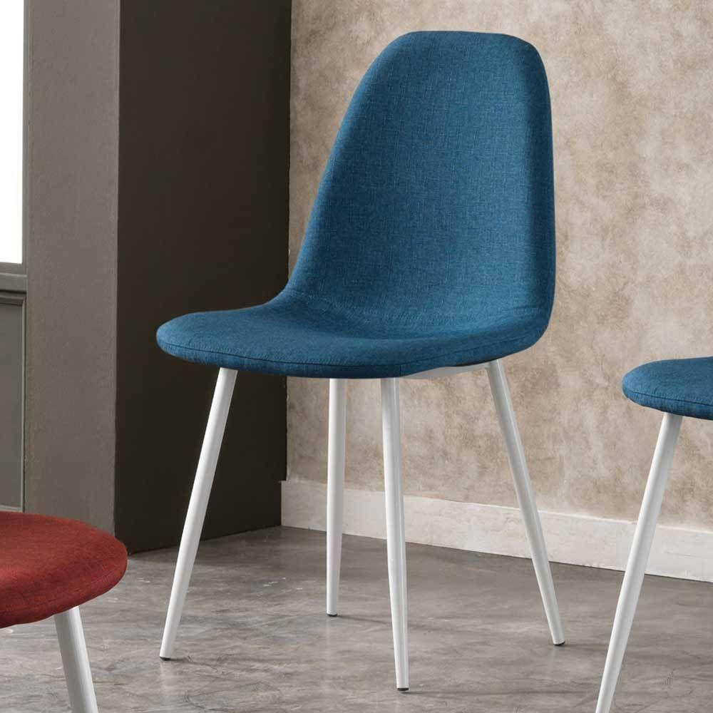 Esstischstuhl Weiß esstischstuhl in blau weiß stoff 4er set jetzt bestellen unter