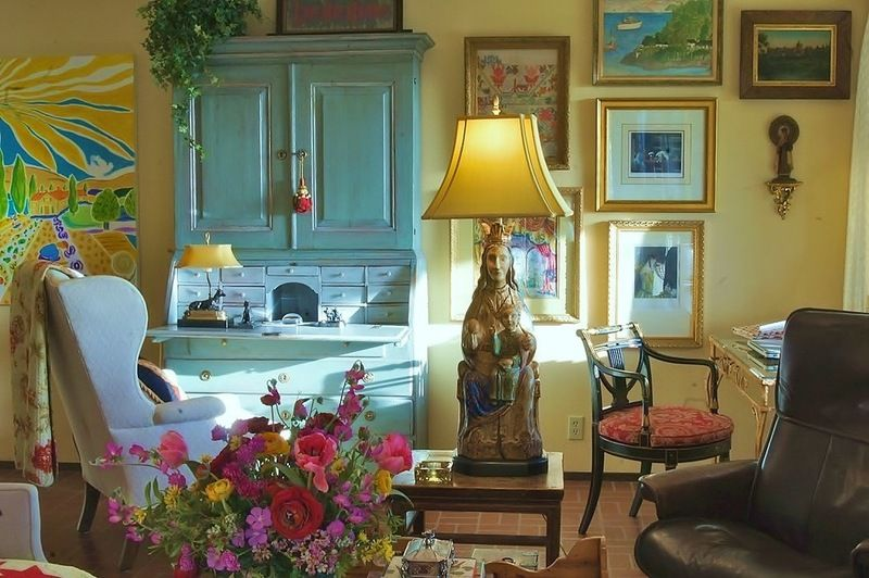 Glam Up An Old Secretary Style Desk Eclectic Living Room By Becky Dietrich Interior