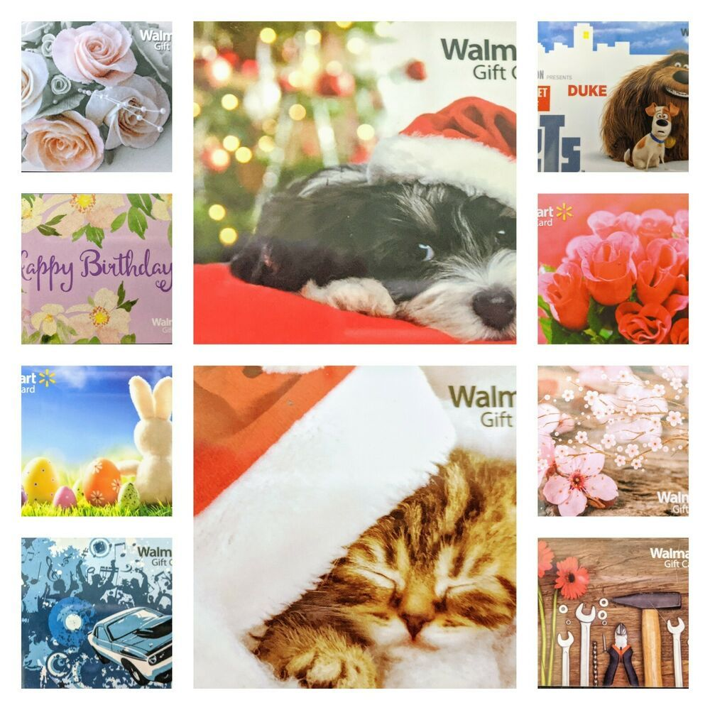 WALMART PLASTIC GIFT CARDS HOLIDAYS BIRTHDAY EASTER TOOLS