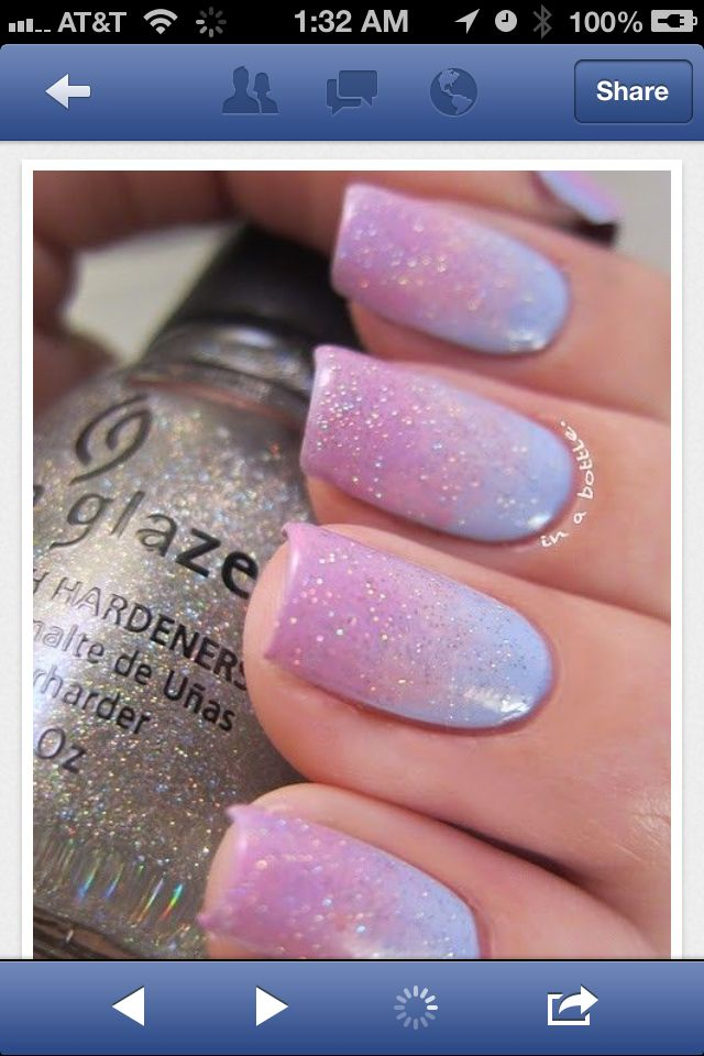 Easter Fade! | Fingernail Art! | Pinterest