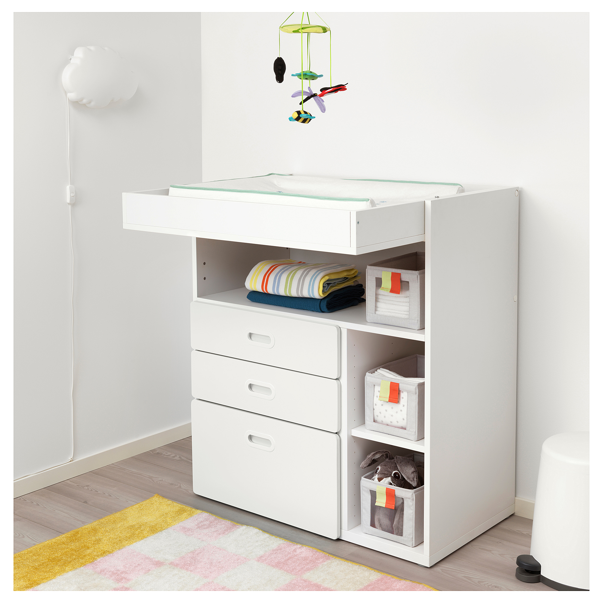 Ikea Stuva Fritids Changing Table With Drawers White White