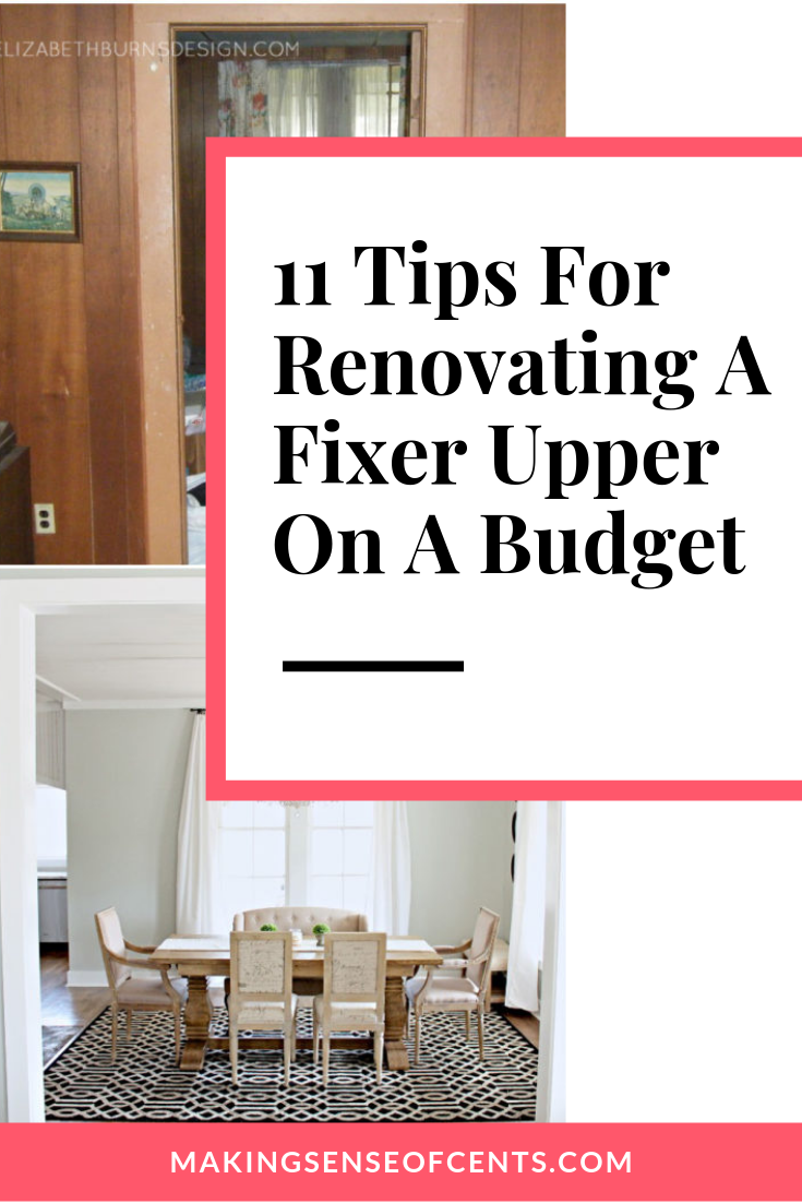 Here is how to save money when renovating a fixer upper - an abandoned 115 year old house. Renovating on a budget fixer upper homes is possible! What a beautiful renovated dining room! #FixerUpperTips #RenovationOnABudget #style #shopping #styles #outfit #pretty #girl #girls #beauty #beautiful #me #cute #stylish #photooftheday #swag #dress #shoes #diy #design #fashion #homedecor