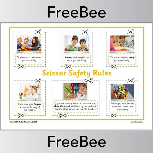 Scissor Safety Rules Poster Safety rules, Free math