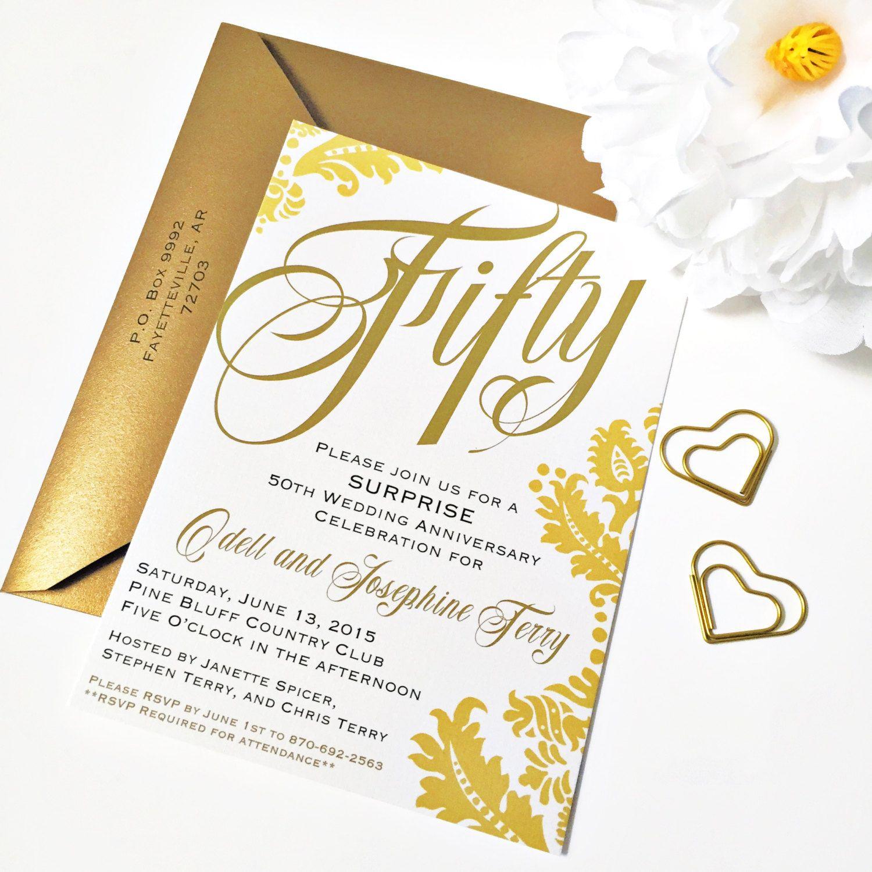 50th Anniversary Invitation | 50th Wedding Anniversary Invitation ...