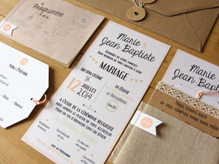 Faire part de mariage  10 idées de textes originaux Wedding - creer sa cuisine en d gratuit
