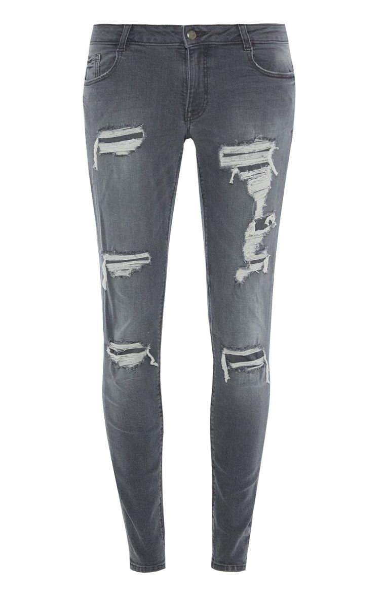 Wonderlijk Primark - Grijze skinny jeans met scheuren (mit Bildern) ER-85